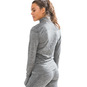 Craft Fuseknit Comfort Zip Shirt Women, dark grey melange